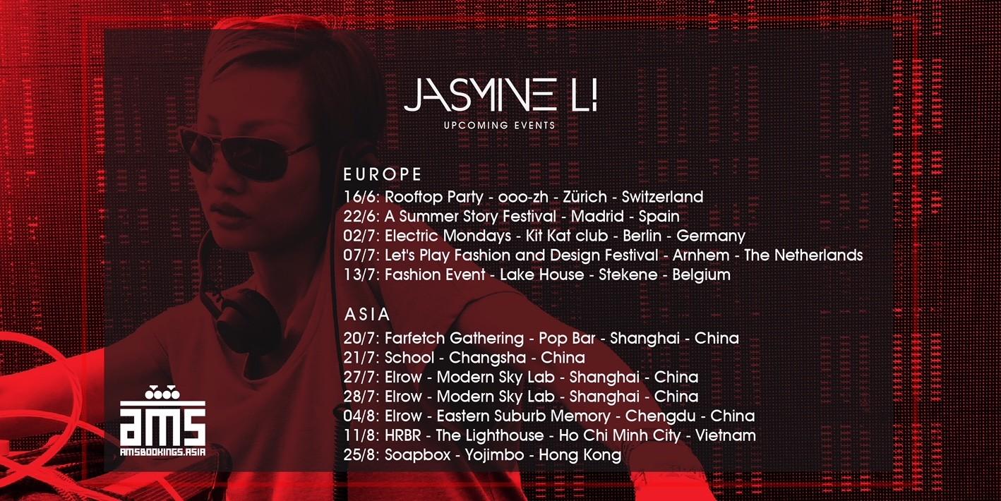 Jasmine Li Europe Asia Tour Ams Bookings Asia